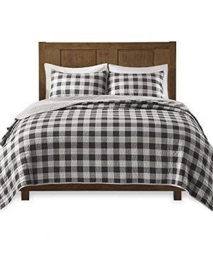 Woolrich Buffalo Check KingCal King Size Quilt Bedding Set Gray Checker Plaid 3 Piece Bedding Quilt Coverlets 100 Cotton Bed Quilts Quilted Coverlet 0 3 300x360