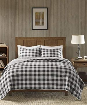 Woolrich-Buffalo-Check-KingCal-King-Size-Quilt-Bedding-Set-Gray-Checker-Plaid--3-Piece-Bedding-Quilt-Coverlets--100-Cotton-Bed-Quilts-Quilted-Coverlet-0