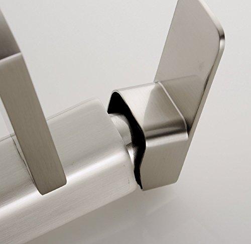 YAJO Modern Single Handle Bathroom Vessel Sink Faucet Brushed Nickel 0 3