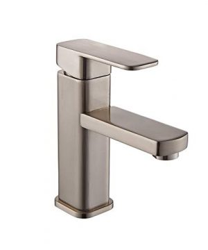 YAJO Modern Single Handle Bathroom Vessel Sink Faucet Brushed Nickel 0 300x360