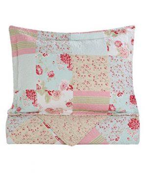 Vivinna Home Textile Cotton Quilt King Size Sets Patchwork Pink Bedspread Summer Blanket 0 5 300x360