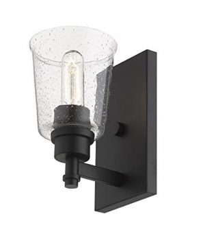 1 Light Wall Sconce In Matte Black 0 0 300x360