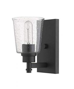 1 Light Wall Sconce In Matte Black 0 1 300x360