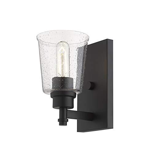 1 Light Wall Sconce In Matte Black 0 2