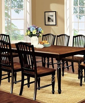 247SHOPATHOME 9 Piece Dining Room Sets Black And Antique Oak 0 300x360