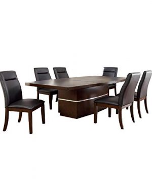 247SHOPATHOME Prudhomme 7 Piece Dining Set Dark Cherry 0 300x360