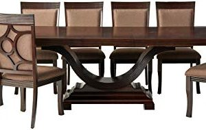 247SHOPATHOME Dining Room Sets 9 Piece Brown 0 300x190