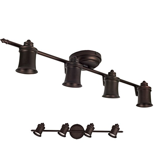 4 Light Track Lighting Wall And Ceiling Mount Fixture Kitchen And Dining Room Oil Rubbed Bronze Farmhouse Goals