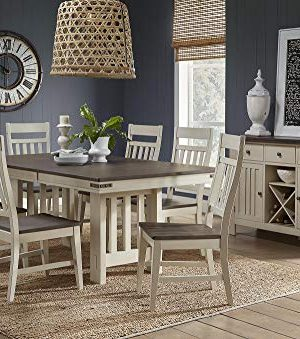 A America Transitional Trestle Table In Saddledust And Oyster Finish 0 300x339
