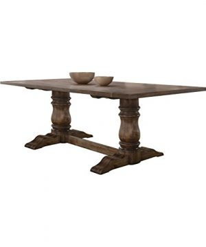 ACME Leventis Dining Table 74655 Weathered Oak 0 300x360