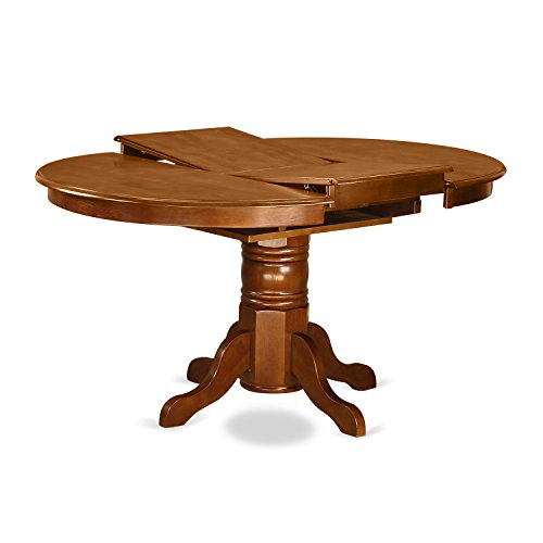 AVML7 SBR C 7 Pc Dining Room Set Oval Dinette Table With Leaf And 6 Dining Chairs 0 0