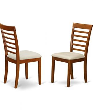 AVML7 SBR C 7 Pc Dining Room Set Oval Dinette Table With Leaf And 6 Dining Chairs 0 4 300x360