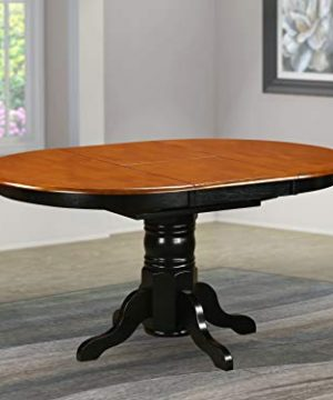 AVT BLK TP Oval Table With 18 Butterfly Leaf Black And Cherry 0 300x360
