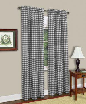 Achim Home Furnishings Buffalo Check Window Curtain Panel Single Curtain 42 X 84 Black White 0 300x360