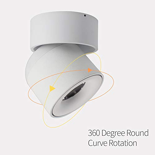 Aisilan Surface Mounted Spotlight LED Ceiling Light 3 Dimension Adjustable Minimalist White Black Nordic Style Natural Warm White Applications Home Office Events Exhibitions MSD52B3K7W 0 0