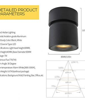 Aisilan Surface Mounted Spotlight LED Ceiling Light 3 Dimension Adjustable Minimalist White Black Nordic Style Natural Warm White Applications Home Office Events Exhibitions MSD52B3K7W 0 4 300x360