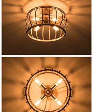 Alice House 18 Large Semi Flush Mount Ceiling Light 4 Light Brown Finish T45 Edison Bulb Light Fixtures Ceiling For Kitchen Bedroom Entance Bathroom Al7091 S4br Farmhouse Goals