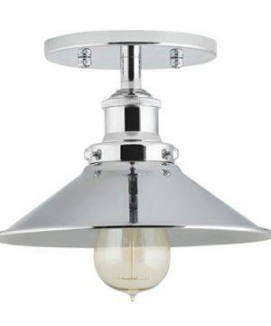 Andante Industrial Vintage Ceiling Light Fixture Chrome Semi Flush Mount Ceiling Light LL C407 PC 0 300x360