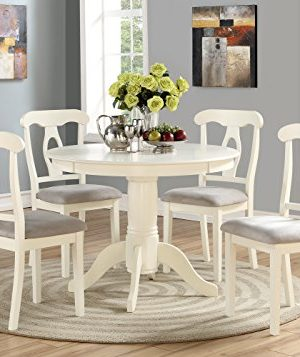 Angel Line 5 Piece Lindsey Dining Set WhiteGray 0 300x357