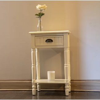 Antique White Rosas 1 Drawer Nightstand