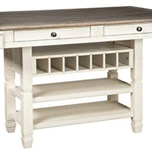 Ashley Furniture Signature Design Bolanburg Counter Height Dining Room Table Antique White 0 300x306