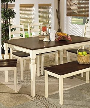 Ashley Furniture Signature Design Whitesburg 6 Piece Dining Room Set Includes Rectangular Table Bench 4 Chairs 0 300x360
