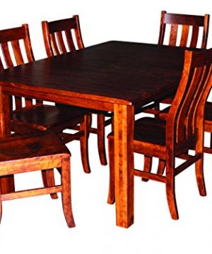 Aspen Tree Interiors Amish Made 9 Piece Solid Wood Cherry Kitchen Dining Room Table For 6 Set Heirloom Furniture For The Holidays And Everyday White Glove Delivery 2 Leaves 0 300x360