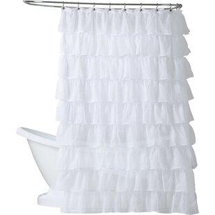 Atia+Voile+Ruffled+Tier+Single+Shower+Curtain