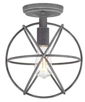 Avesso Antique Silver Semi Flush Mount Ceiling Light With LED Bulb LL CL439 4ANTSIL 0 0 300x360