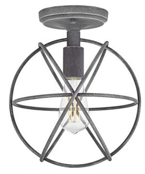Avesso Antique Silver Semi Flush Mount Ceiling Light With LED Bulb LL CL439 4ANTSIL 0 300x360