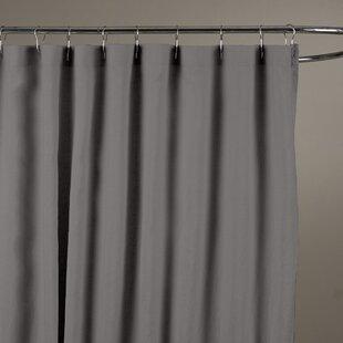 Bernadette+Linen+Solid+Color+Single+Shower+Curtain