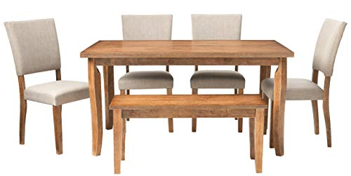 Best Master Furniture Rectangular 6 Pcs Dining Set 0