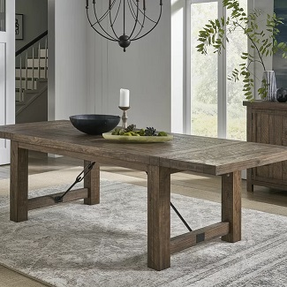 Bismack Extendable Pine Solid Wood Dining Table