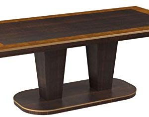 Bombay Cicero Pecan Wood Finish Dining Table 65 Ft 0 300x236
