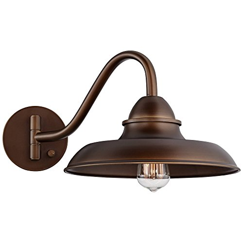 Bowdon Bronze 10H Indoor Plug In Sconce With Edison Bulb Franklin Iron Works 0 0
