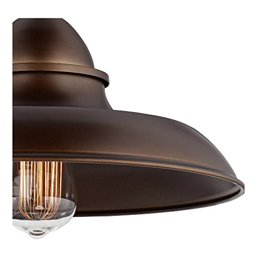 Bowdon Bronze 10H Indoor Plug In Sconce With Edison Bulb Franklin Iron Works 0 1