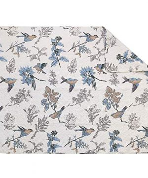 Brandream American Country Quilted Throw Blanket Cotton Birds Printing Throw Quilt 47 X 60 Inch Beige 0 0 300x360