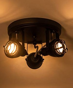 Bronze Black Track Directional Light Triple Head Ceiling Fixture Adjustable Spotlight For Kitchen Pantry Stairwell Hallway83 Inch 0 1 300x360