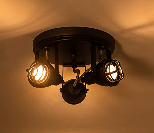 Bronze Black Track Directional Light Triple Head Ceiling Fixture Adjustable Spotlight For Kitchen Pantry Stairwell Hallway83 Inch 0 1