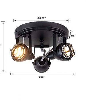 Bronze Black Track Directional Light Triple Head Ceiling Fixture Adjustable Spotlight For Kitchen Pantry Stairwell Hallway83 Inch 0 2 300x360