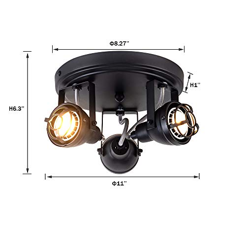 Bronze Black Track Directional Light Triple Head Ceiling Fixture Adjustable Spotlight For Kitchen Pantry Stairwell Hallway83 Inch 0 2
