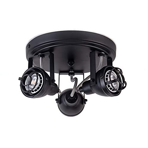 Bronze Black Track Directional Light Triple Head Ceiling Fixture Adjustable Spotlight For Kitchen Pantry Stairwell Hallway83 Inch 0