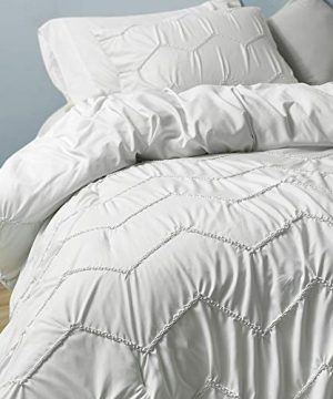 Byourbed Textured Waves Twin XL Comforter Supersoft Farmhouse White 0 0 300x360