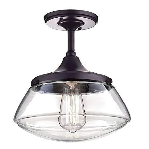 CLAXY Ecopower Vintage Metal Glass Ceiling Light 1 Lights Pendant Lighting Chandelier 0 3