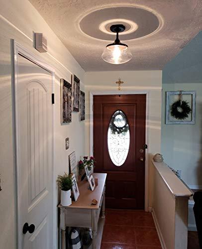 CLAXY Ecopower Vintage Metal Glass Ceiling Light 1 Lights Pendant Lighting Chandelier 0 4