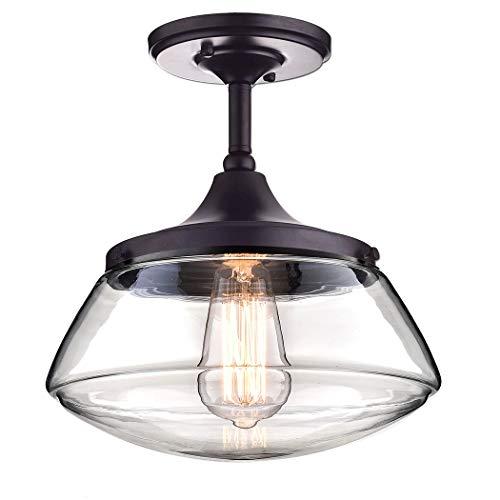 CLAXY Ecopower Vintage Metal Glass Ceiling Light 1 Lights Pendant Lighting Chandelier 0