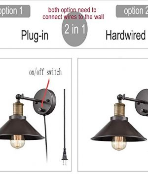 CLAXY Industrial Swing Arm Wall Sconce Simplicity 1 Light Wall Lamp 2 Pack 0 1 300x360