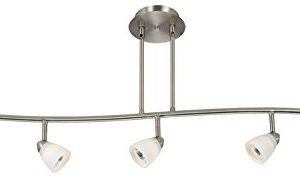 Cal Lighting SL 954 5 BSWH Track Lighting With White Glass Shades Brushed Steel Finish 0 300x182