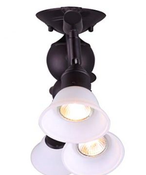 Canarm IT217A04ORB10 Addison 4 Light Dropped Track Lighting With Flat Opal Glass Shades Oil Rubbed Bronze 0 0 300x360