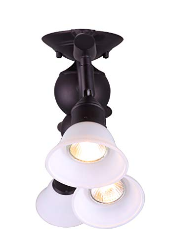 Canarm IT217A04ORB10 Addison 4 Light Dropped Track Lighting With Flat Opal Glass Shades Oil Rubbed Bronze 0 0